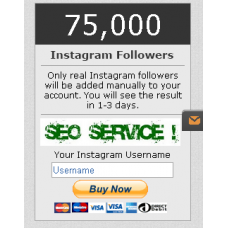 75000 Instagram Followers