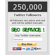 250000 Twitter Followers