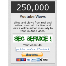 250000 You Tube View